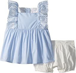 Two-Pieces French Embroidery Blouse/Percale Shorts (Infant)