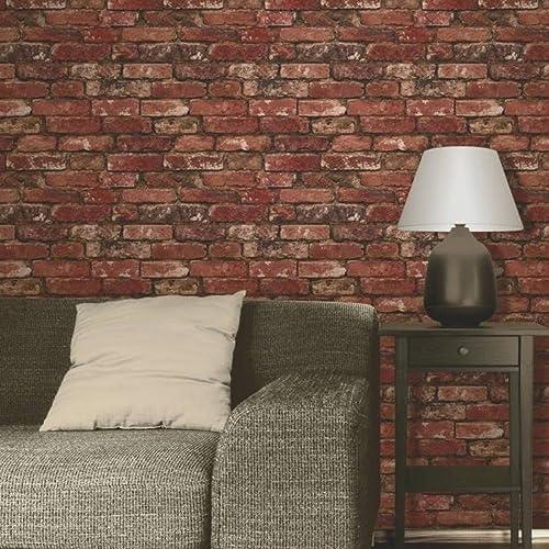Red Brick Wallpaper Amazoncouk