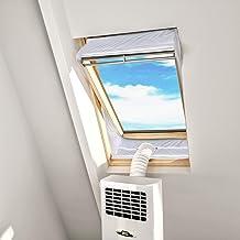 HOOMEE Fensterabdichtung für Mobile Klimageräte Dachfenster, Hot Air Stop zum Anbringen an Schwingfenster, Fensterabdichtung Klimaanlage für max. 390cm Fensterumfang, Fensterkitt Set 2x190cm