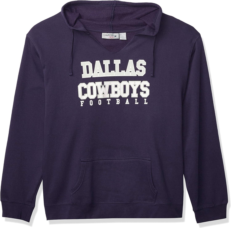Dallas Cowboys Women's Plus Size Fleece Hood