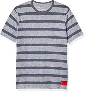 Calvin Klein Boys' Wide Stripe Tee Shirt