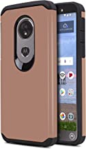 CasemartUSA Phone Case for [Motorola Moto E5 (XT1920DL)], [DuoTEK Series][Rose Gold] Shockproof Cover [Impact Resistant][D...