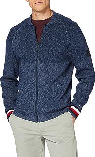 Tommy Hilfiger Men's Branded Baseball Zip Through Sweater