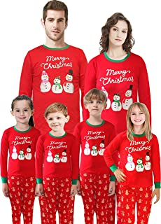 منامات عائلية متطابقة للكريسماس سانتا كلوز ملابس نوم قطنية للأطفال