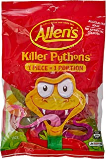 Allen's Killer Pythons Lollies, 192 Grams