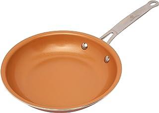 Sartén con revestimiento de cobre, cerámica y titanio de Palemiso, cerámica, cobre,
