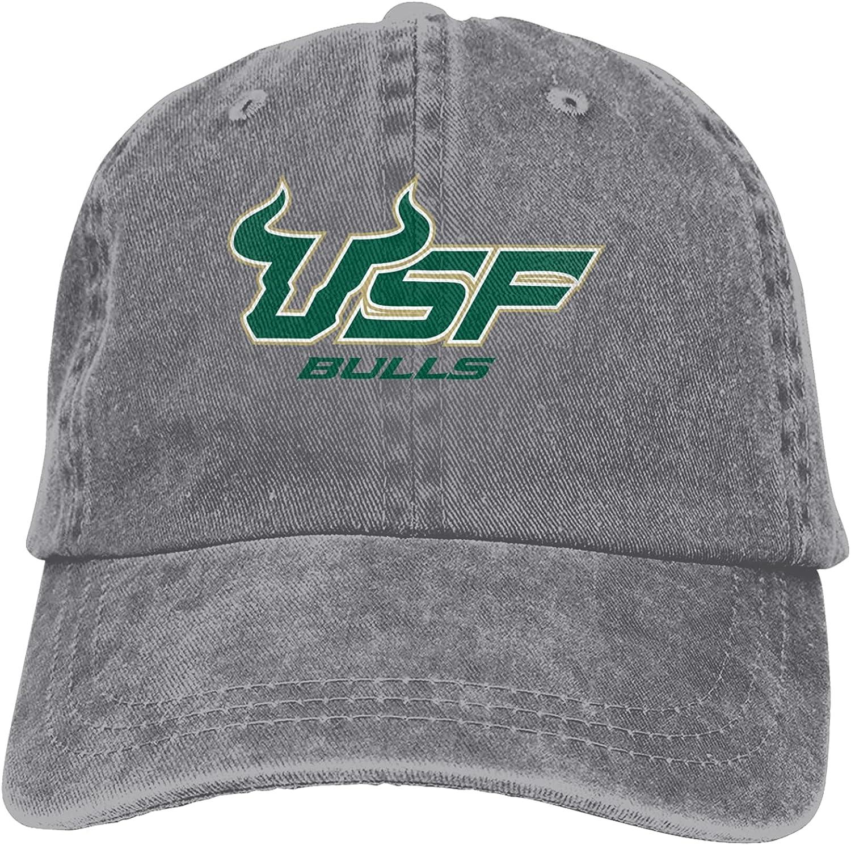 Clipart USF Bulls Logo Classic Cowboy Hat Adjustable Baseball Cap Unisex Casual Sports Hat