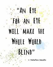 Wall Art Print ~ Mahatma Gandhi Famous Quote: