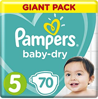 Pampers Baby-Dry, Size 5, Junior, 11-16 kg, Mega Pack, 70 Diapers