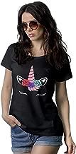 Unicorn Shirts for Women - Black Tees Cute Womens Graphic T Shirts