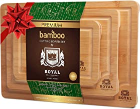Organic Bamboo Cutting Board with Juice Groove (3-Piece Set) – Best Kitchen..