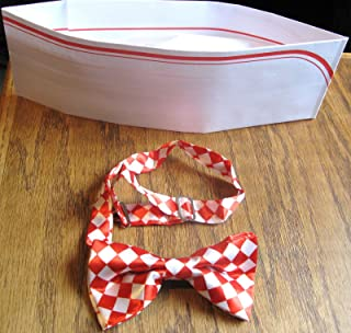 Bowtie and Soda Jerk Paper Party Hat