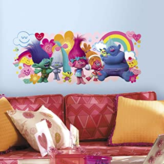 RoomMates RMK3171GM Trolls Movie Peel And Stick Giant Wall Decals,Multicolor