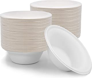 16 oz Bowls Disposable 125 PK Sturdy Biodegradable Eco Friendly Sugarcane Bagasse
