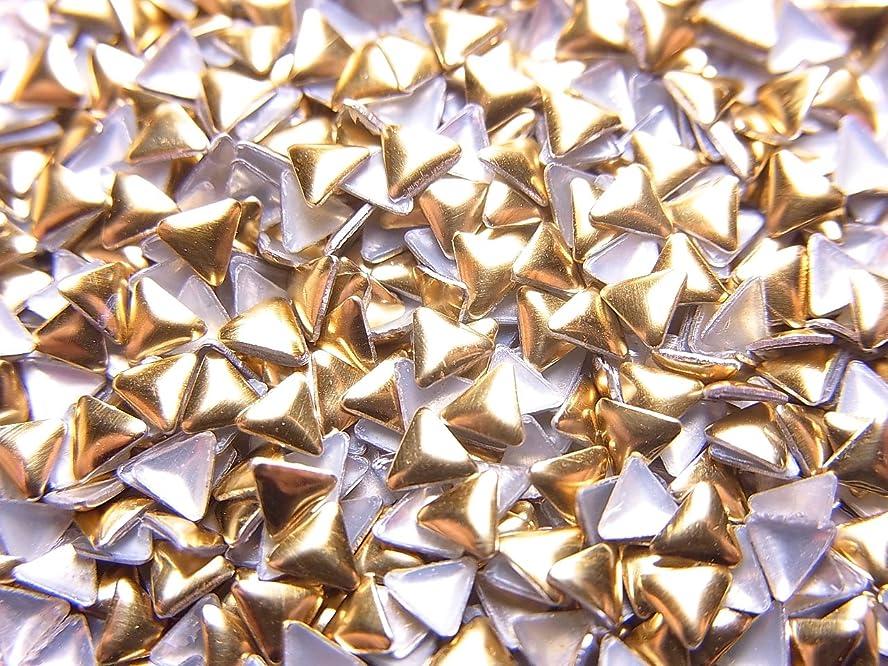 距離囲まれた手足【jewel】トライアングル型(三角形)メタルスタッズ 3mm ゴールド 約100粒入り