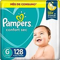 Fralda Pampers Confort Sec G - 128 fraldas