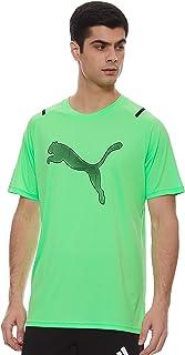 PUMA unisex-adult TRAIN GRAPHIC RAGLAN TEE Elektro Green T-Shirt