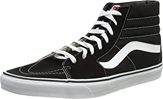 Sk8-Hi Unisex Casual Sneakers, Size 8, Color Black/White