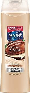 Suave Naturals Body Wash, Creamy Cocoa Butter & Shea, 15 Fl Oz (Pack of 6)