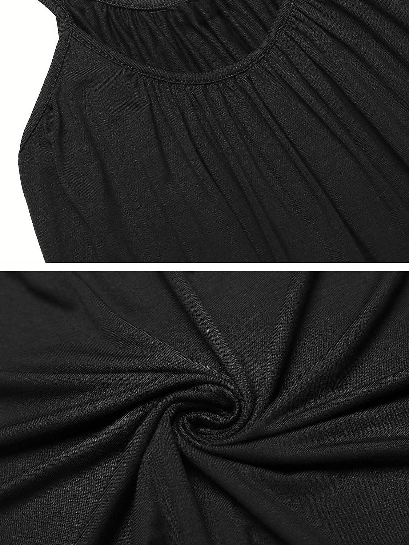 SUNAELIA Women's Tank Top Adjustable Spaghetti Strap Loose Camisole Flowy Camis Sleeveless Pleated Tunic Shirts