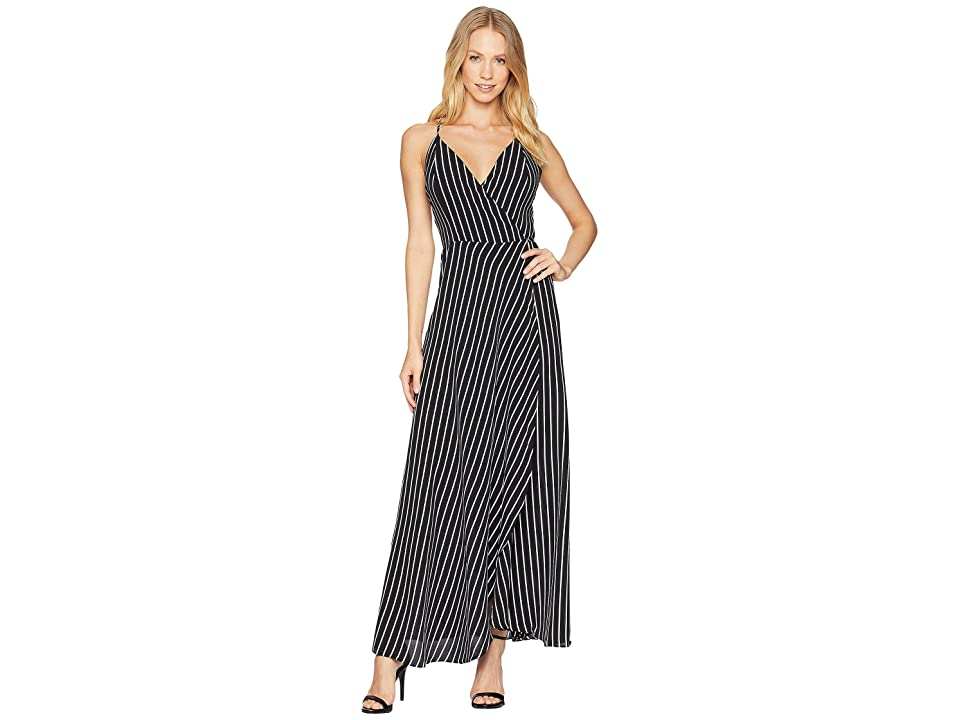 Bardot Fiesta Wrap Dress (Stripe) Women