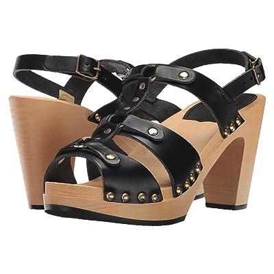 Swedish Hasbeens Brassy (Black) High Heels