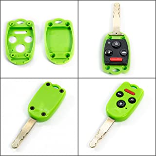 STAUBER Best Key Shell Replacement for Honda Accord, Ridgeline, Civic, and CR-V - KR55WK49308, N5F-A05TAA, N5F-S0084A - NO Locksmith Required Using Your Old Key and chip! - Green