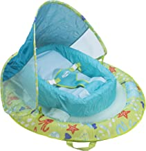 SwimWays Infant Baby Spring Float with Adjustable Sun Canopy – Green