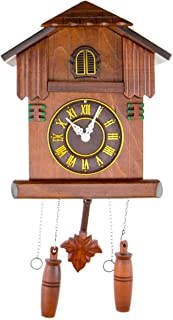 CLEVER GARDEN Large Wooden Traditional Cuckoo Clock House with House & Pendulum | Home & Kitchen Décor | Wall Clock Decora...