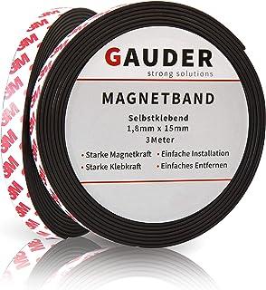 GAUDER Cinta Magnética Adhesiva Fuerte | Banda Magnética Autoadhesiva | Tira de Imán Flexible