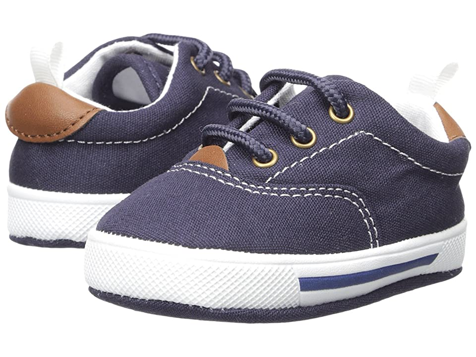 Baby Deer Soft Sole Lace-Up Sneaker (Infant) (Navy) Kid