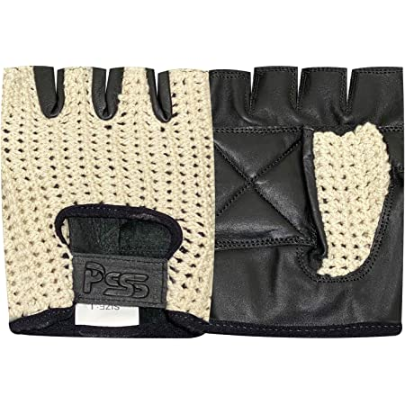 405 NET LEATHER FINGERLESS GLOVES GYM WEIGHT TRAINING BUS DRIVING WHEELCHAIR