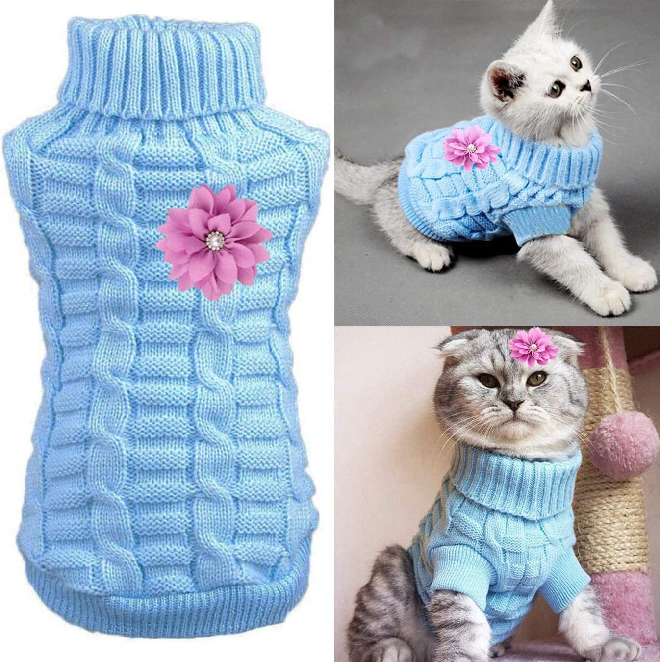Aillion Cat Dog Sweater for Cats Brand new Small Online limited product Warm Soft Dogs and D