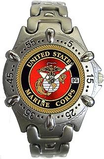 U.S. Marine Corps Brass Mens Watch - 30m Water Resistant