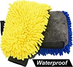 Weave Chenille Microfiber Coral Velvet Lint Free Scratch Free Not Hurt Paint Glove Sponge Soap Towel Clean Tools Kits for Car Auto Household Home Kitchen Cleaning GreatCool 3 in 1 Car Wash Mitt