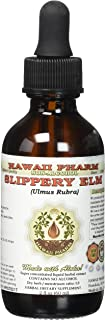 Slippery Elm Alcohol-FREE Liquid Extract, Organic Slippery Elm (Ulmus Rubra) Dried Bark Glycerite 2 oz