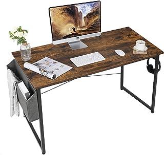 AuAg 120 cm Bureau d'ordinateur, Bureau Informatique, Bureau avec Rangement,Table d'ordinateur, Table de Bureau Rustique, ...