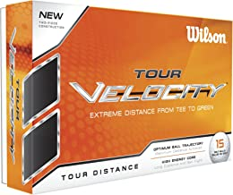 Wilson Golf Tour Velocity 15 Golf Ball Pack, Men