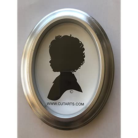 5x7 inch Silver Oval Wood Frame for Silhouettes