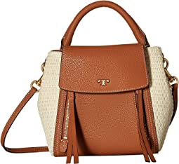 Half-Moon Straw Crossbody