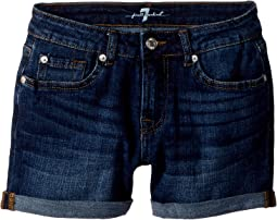 7 For All Mankind Kids Denim Shorts in Eden Port (Big Kids)