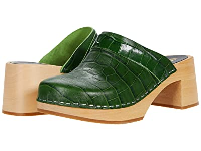 Swedish Hasbeens Dagny (Dark Green Croc) Women