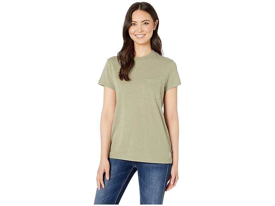 Fjallraven Greenland Re-Cotton T-Shirt Short Sleeve (Green) Women