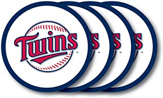 MLB Minnesota Twins Vinyl Coaster Set (Pack of 4)