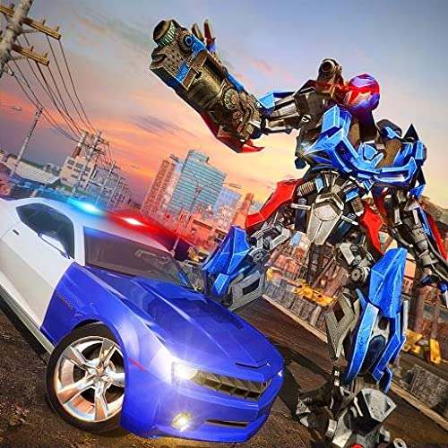 Police Robot Car simulator 3D: NY City Police Chase Real Robot Best Muscle Transformation Fighting Adventure Mission Games Free for Kids