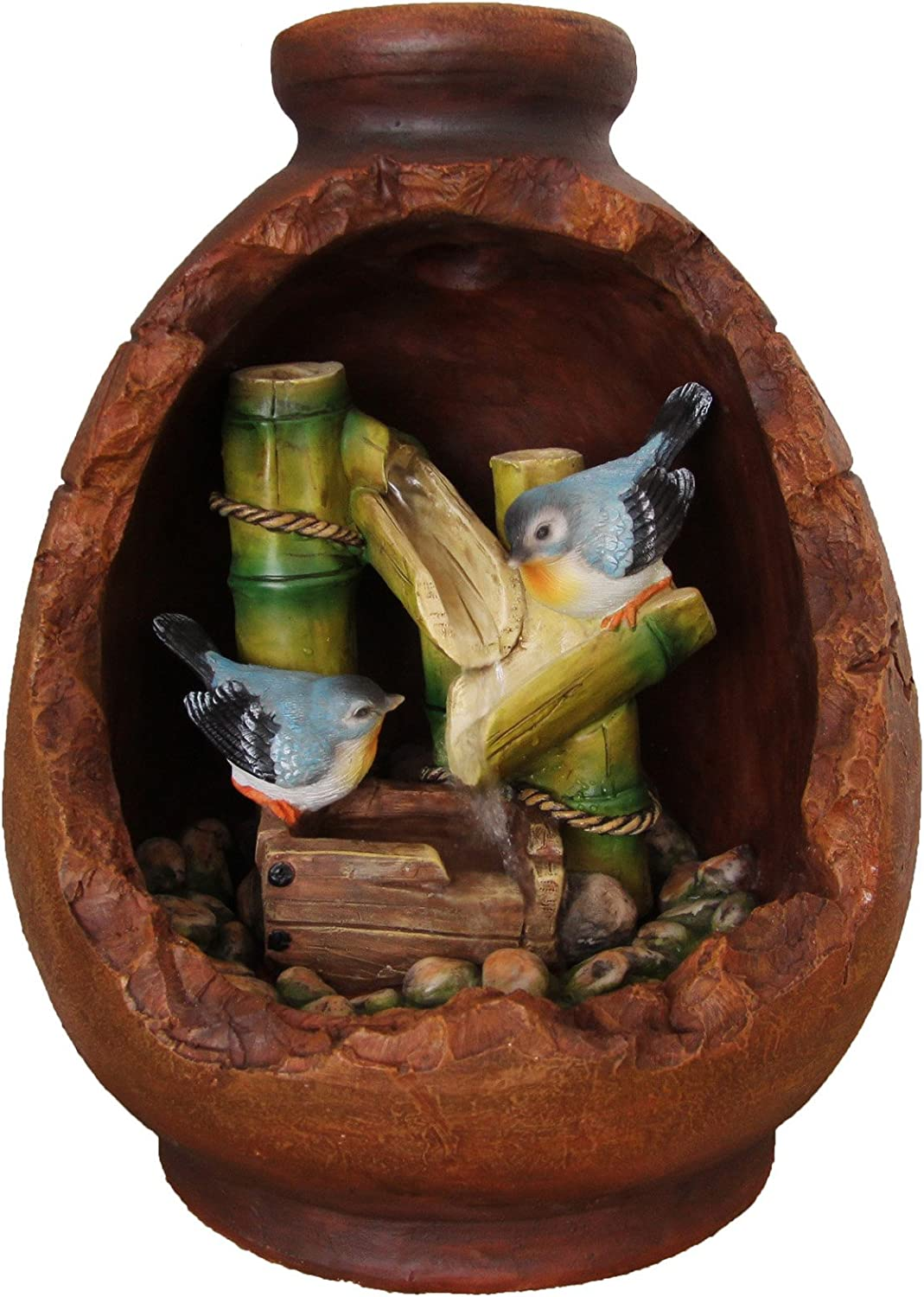 SINTECHNO Max 46% OFF SNF15135 Aristic OFFicial Sculptural Birds on in Bamboo Nesting