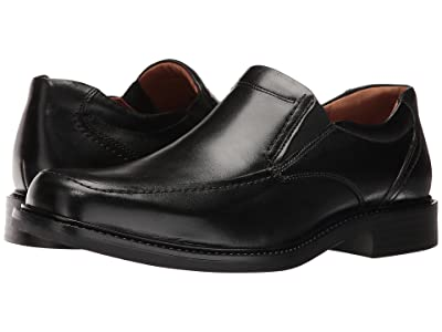 Johnston & Murphy Tabor Casual Dress Slip-On (Black Calfskin) Men