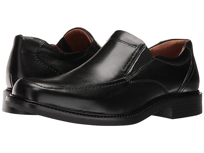 Johnston and Murphy  Tabor Casual Dress Slip-On (Black Calfskin) Mens Slip-on Dress Shoes
