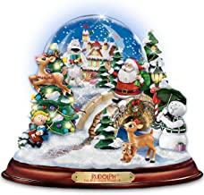The Bradford Exchange Rudolph The Red-Nosed Reindeer Illuminated and Musical Snowglobe