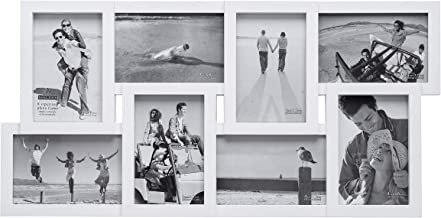 Malden International Designs Puzzle Collage Picture Frame, 8 Option, 8-4x6, White